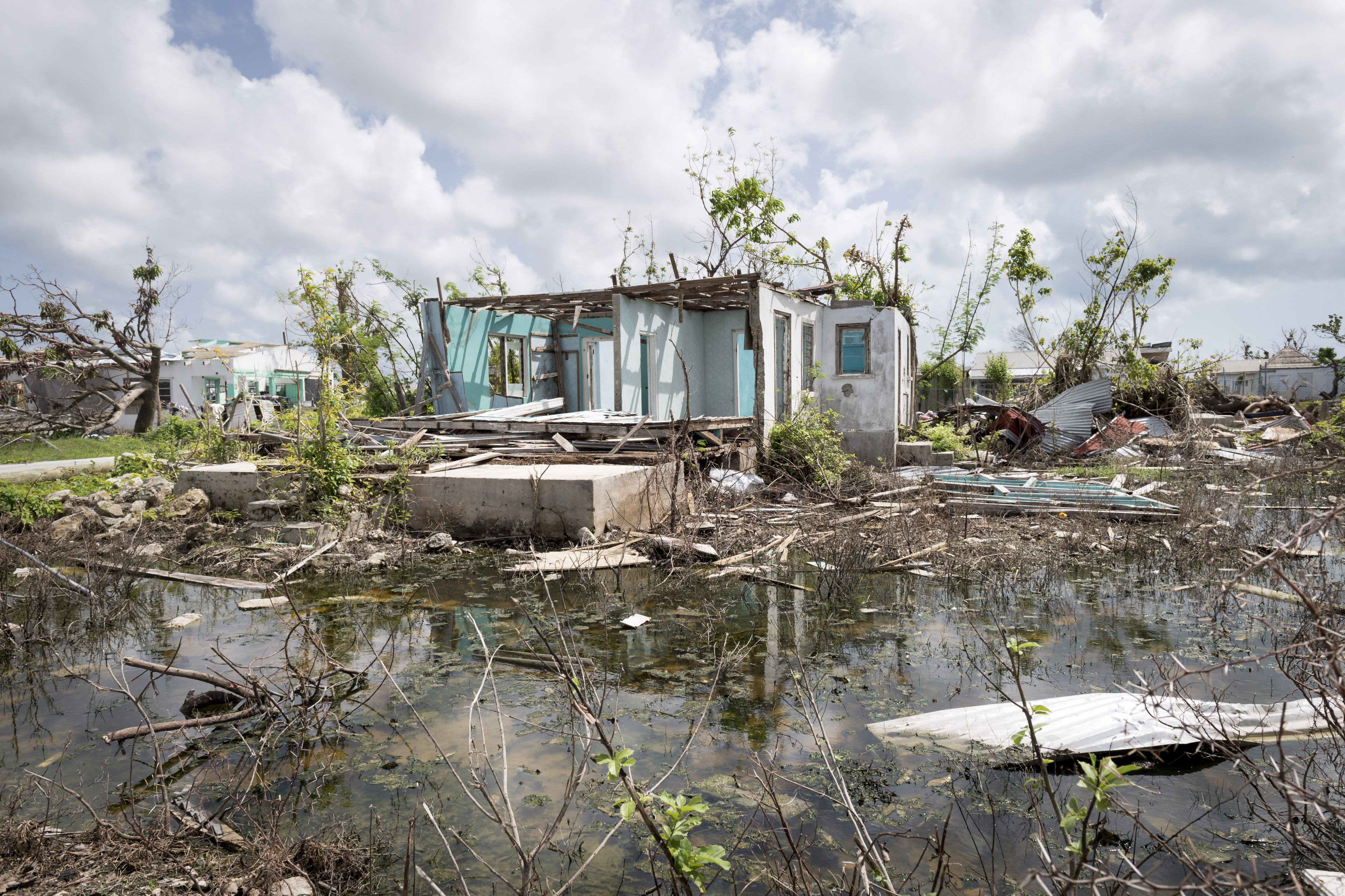 Codrington, Barbuda after Hurricane Irma  (Photo via UN)