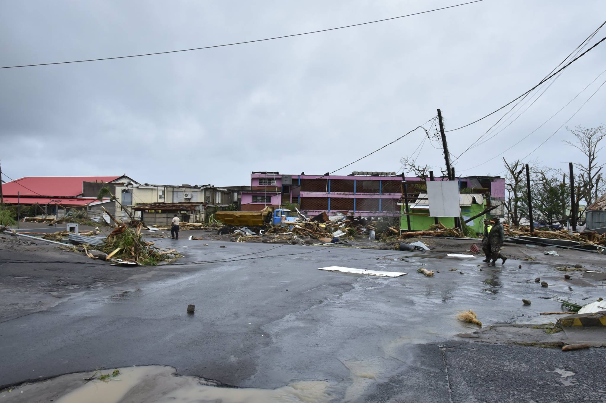 Devastation in Dominica