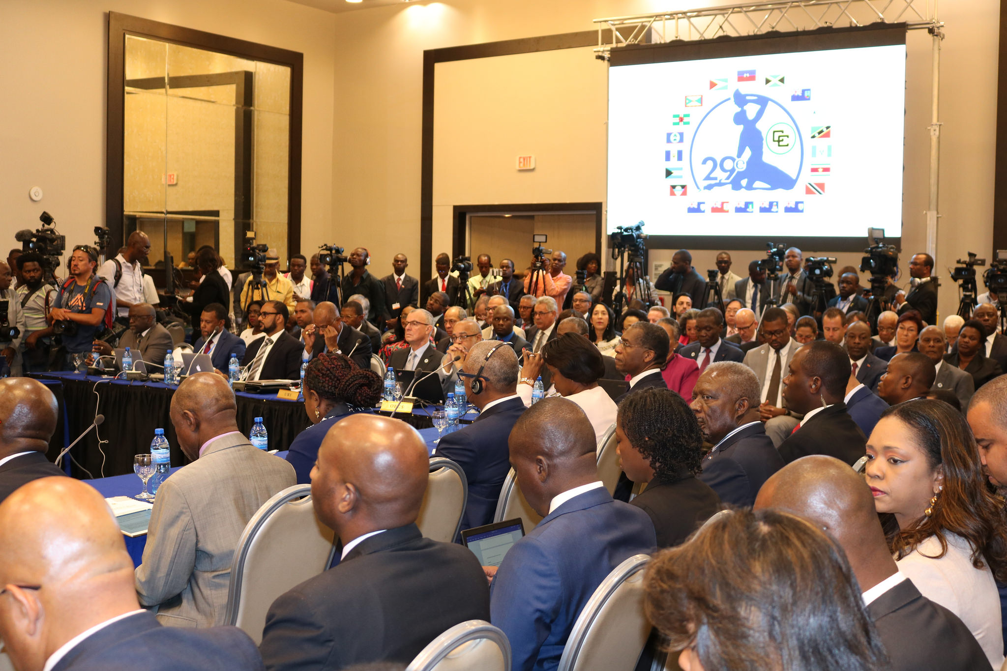 A section of the audience at the opening ceremony of the 29th Intersessional Meeting of the Conference of Heads of Government of CARICOM